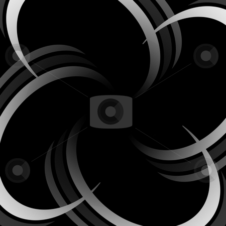 Abstract Rings Vortex stock photo, Abstract curved lines in the shapes of rings coming together to form a vortex. by Todd Arena
