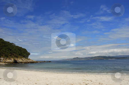 Beach stock photo, Beautiful beach at spanish island of Cies by Rui Vale de Sousa