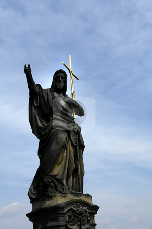 Statue stock photo, Christ statue detail and the sky as background by Rui Vale de Sousa
