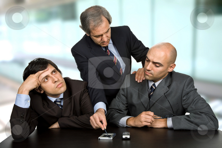 Meeting stock photo, Group of workers on a meeting at the office by Rui Vale de Sousa