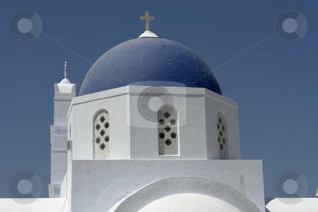 Church stock photo, Typical church of santorini island, in greece. village of Ia by Rui Vale de Sousa