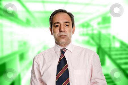 Business man stock photo, Mature business man portrait in a office building by Rui Vale de Sousa