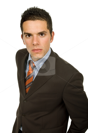 Executive stock photo, Young business man portrait in white background by Rui Vale de Sousa