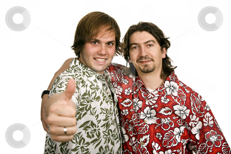 Casual stock photo, Two young casual men isolated on white by Rui Vale de Sousa