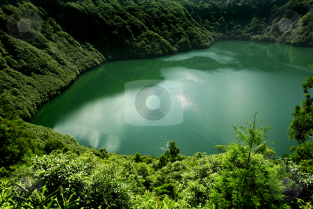 Lake stock photo, Azores lake of sao goncalo in s miguel island by Rui Vale de Sousa