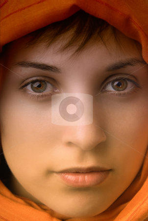Woman stock photo, Young beautiful casual woman, close up portrait by Rui Vale de Sousa