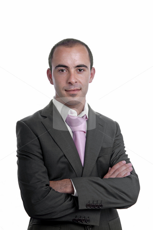 Portrait stock photo, Young business men portrait isolated on white by Rui Vale de Sousa
