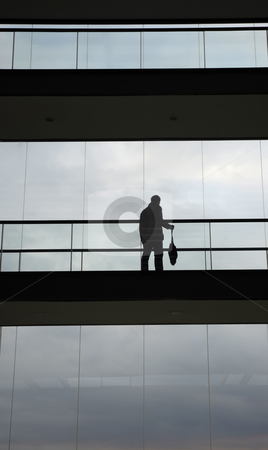Male stock photo, Young male worker in the modern building by Rui Vale de Sousa