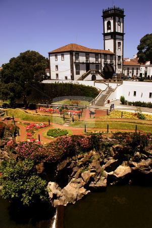 Village stock photo, Old church and Town hall of Ribeira Grande, Sao Miguel island, Azores by Rui Vale de Sousa