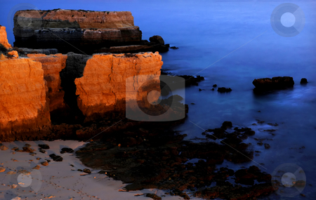 Long Exposure stock photo, Long Exposure of sea over rocks - dreamy feel by Rui Vale de Sousa