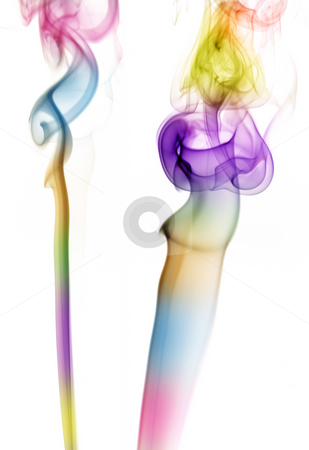 Smoke stock photo, Abstract colored smoke detail from a cigarrette by Rui Vale de Sousa