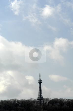 Prague stock photo, Metal tower in the city of prague by Rui Vale de Sousa