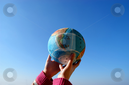 Globe stock photo, Globe in the hands by Rui Vale de Sousa