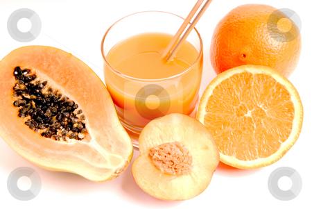 Orange stock photo, A glass of orange juice with cut oranges by Rui Vale de Sousa