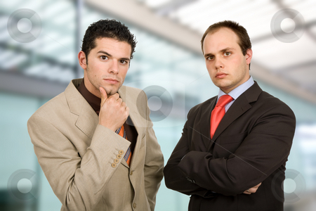 Workers stock photo, Two young business men portrait, at the office by Rui Vale de Sousa