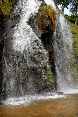 Waterfall stock photo, Big waterfall in azores island of s. miguel by Rui Vale de Sousa