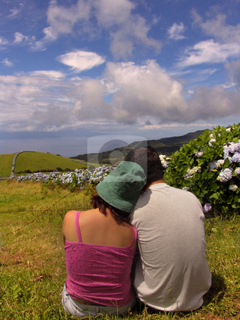 Love stock photo, Couple in azores fields by Rui Vale de Sousa
