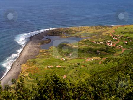 Azores stock photo, Village in azores coast at s jorge island by Rui Vale de Sousa