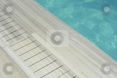 Pool stock photo, Blue swimming pool water detail textures and reflections by Rui Vale de Sousa