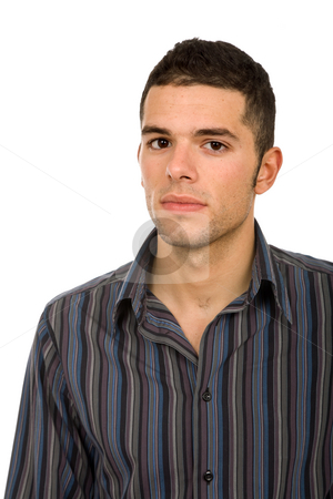 Young stock photo, Young casual man portrait in white background by Rui Vale de Sousa