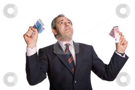 Money stock photo, Young business man with money over white background by Rui Vale de Sousa