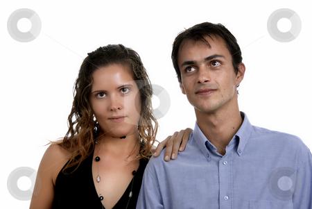Couple stock photo, Young happy couple in a studio portrait by Rui Vale de Sousa