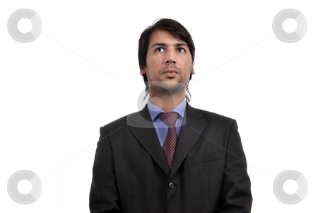 Business men stock photo, Young business men portrait isolated on white. by Rui Vale de Sousa