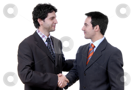 Shaking hands stock photo, Businessmen shaking hands - isolated over a white background by Rui Vale de Sousa