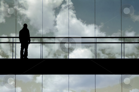 Clouds stock photo, Man in the clouds by Rui Vale de Sousa