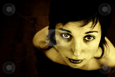 Woman stock photo, Digital art with a beautiful woman portrait by Rui Vale de Sousa
