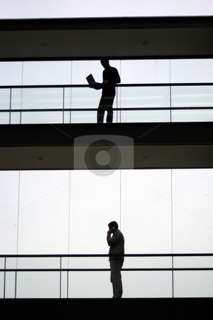 Sillouette stock photo, Workers in the building by Rui Vale de Sousa