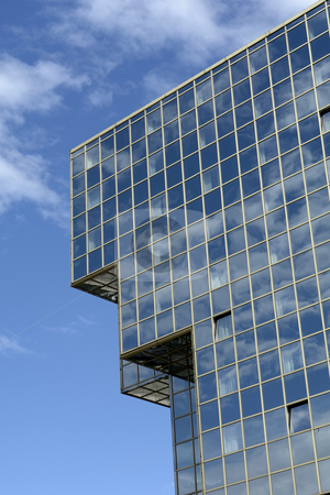 Blue stock photo, Modern office building in the city of prague by Rui Vale de Sousa