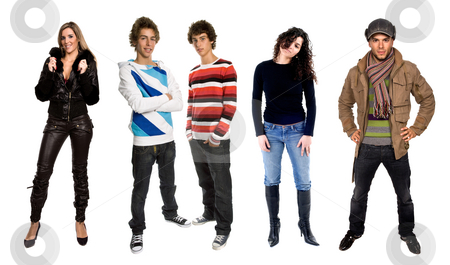 Group stock photo, People in studio, individual images available at higher resolution by Rui Vale de Sousa