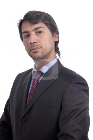Portrait stock photo, Young business men portrait isolated on white by Rui Vale de Sousa