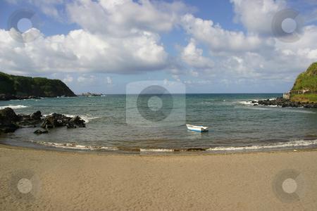 Boat stock photo, Boat in a azores beach by Rui Vale de Sousa