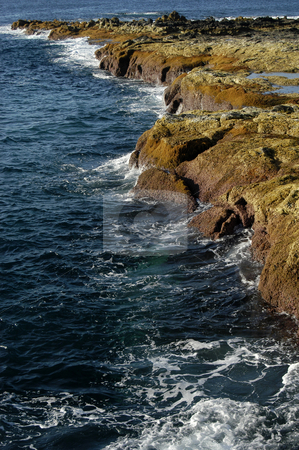 Coast stock photo, Coast rocks in azores by Rui Vale de Sousa