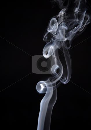 Smoke stock photo, Smoke from a cigarette in a black background by Rui Vale de Sousa