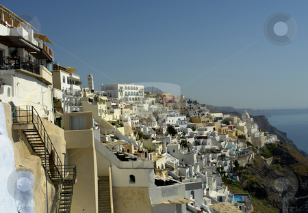 Thira stock photo, View of Thira at the greek island of Santorini by Rui Vale de Sousa