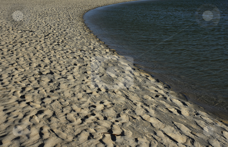 Sand stock photo, Sand at the beach coast detail with water by Rui Vale de Sousa