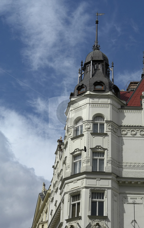 Buildings stock photo, Ancient prague buildings in the old town by Rui Vale de Sousa