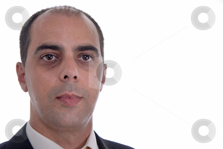 Head stock photo, Young business man portrait on white background by Rui Vale de Sousa