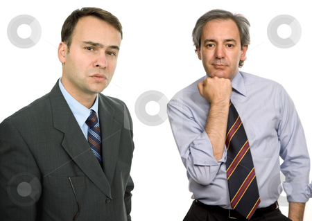 Business men stock photo, Two business men portrait, isolated on white by Rui Vale de Sousa