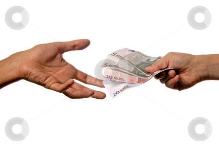Money stock photo, Person handing money to another person detail by Rui Vale de Sousa