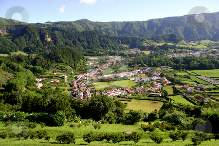 Village stock photo, Azores village of furnas by Rui Vale de Sousa