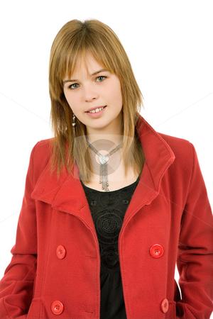 Blonde stock photo, Young casual blonde woman close up portrait by Rui Vale de Sousa