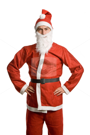 Silly santa stock photo, Silly santa claus isolated on white background by Rui Vale de Sousa