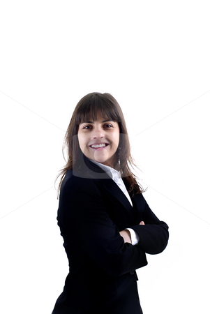 Girl stock photo, Successful business woman. Isolated over white background by Rui Vale de Sousa