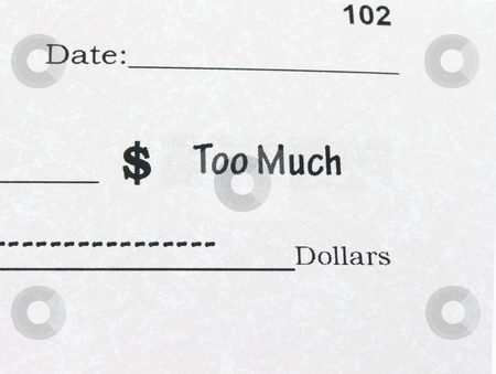 Conceptual photo of Check with Too Much stock photo, Conceptual photo of Check with Too Much by John Teeter