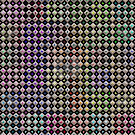 Colored checks pattern stock photo, Seamless texture of little checks with bright color dots by Wino Evertz