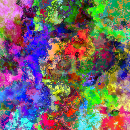 Abstract painting style background stock photo, Abstract vibrant texture in many bright colors by Wino Evertz
